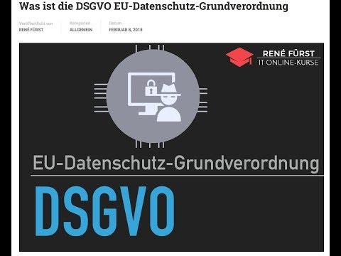Smalltalk zur DSGVO - Datenschutz der EU